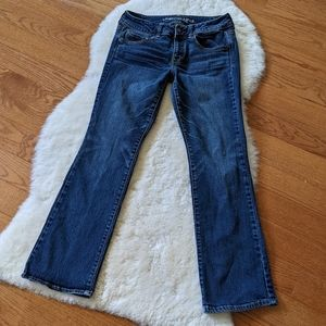 AEO kick boot stretch denim jeans low mid rise